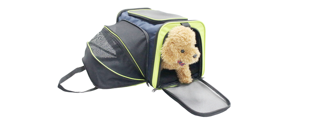 Cozy Ventilated One-Side Expandable Pet Travel Carrier for Dogs and Cats image 1
