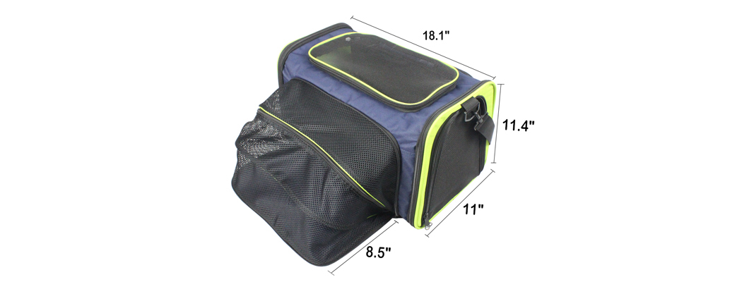 Cozy Ventilated One-Side Expandable Pet Travel Carrier for Dogs and Cats image 6